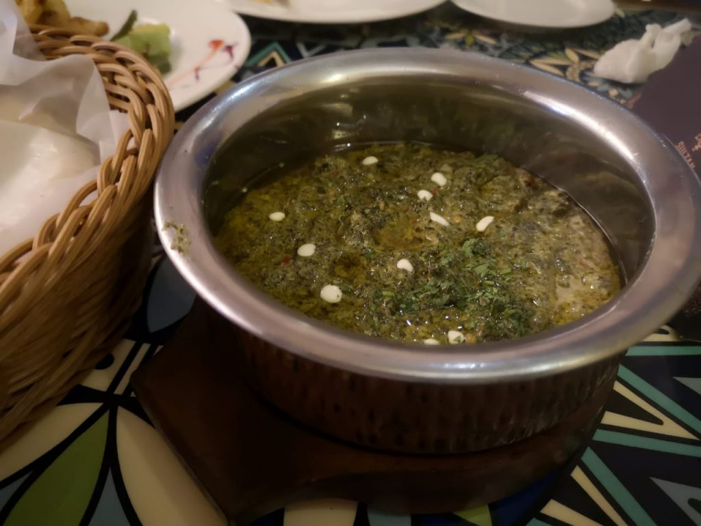 Sultan The Royal Eatery Palak Paneer